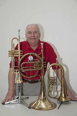 Tony Scodwell with all his Legends Brass Signature Mouthpieces