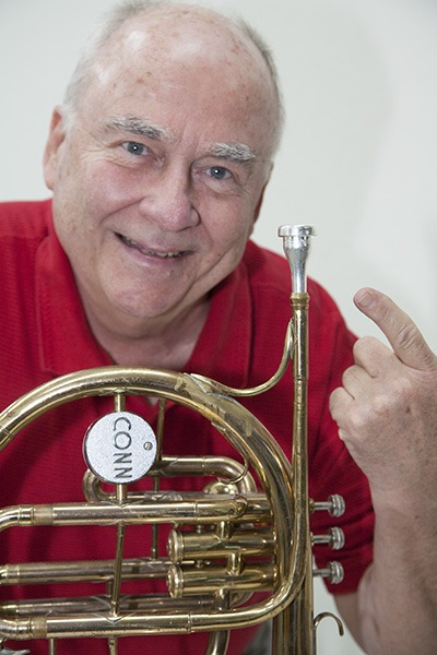 Tony Scodwell with his Legends Scodwell Mello Mouthpiece