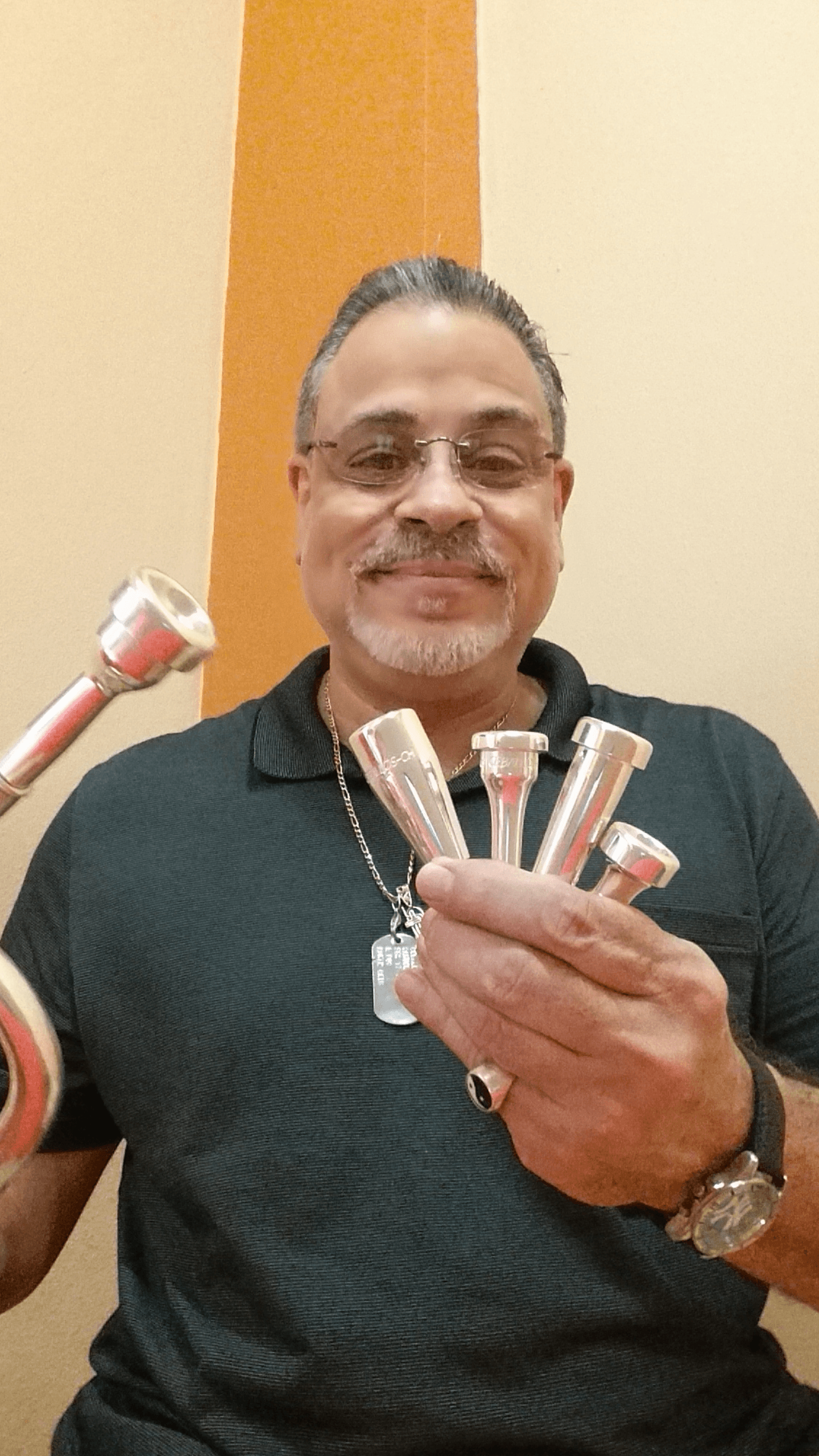 The legendary Sammy Ceballos with his Legends Brass mouthpieces