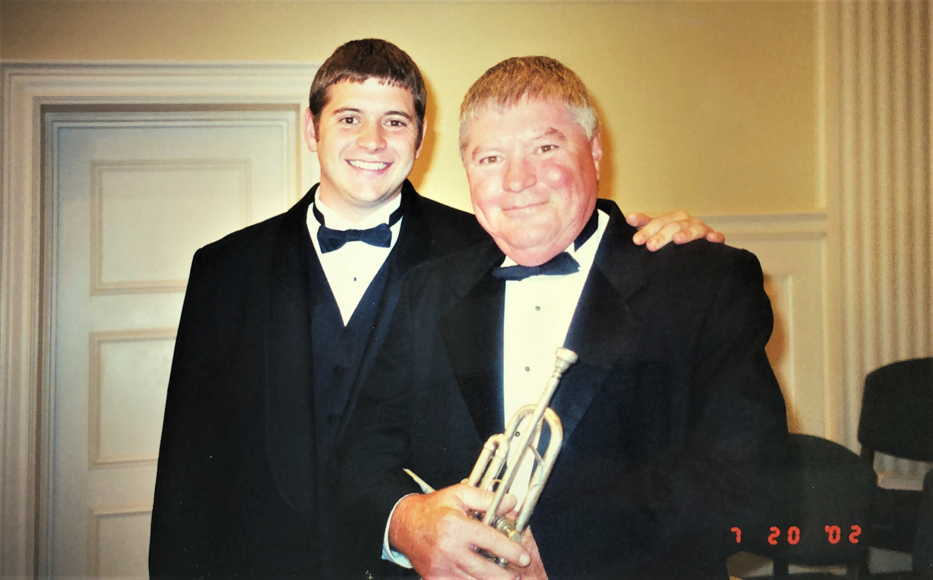 David with his son Davy, also a gifted trumpet player.